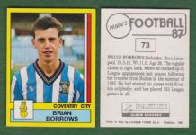 Coventry City Brian Borrows 73